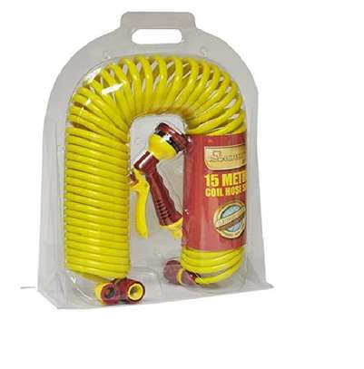 KINGFISHER 15M COIL HOSE WITH SPRAY GUN (CH15MB) image 1