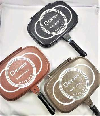 *Quality Original Dessine granite marble /non-stick double grill pan* image 1