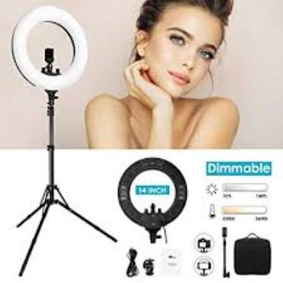 14-Inch LED Ring Light Dimmable Video Studio Photography Lighting For DSLR Youtube Live Streaming Photo With Tripod image 1