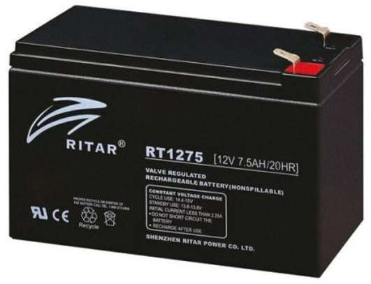 RS Components RT1275 Rechargeable Lead Acid Battery image 1