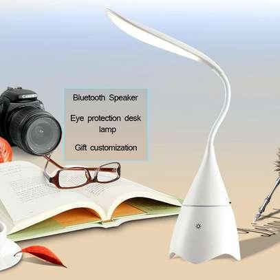 LED  Desk Table Lamp Bluetooth Audio Speaker image 4