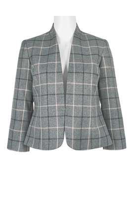 Grey Black Plaid Blazer image 1