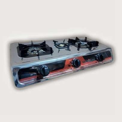 VELTON 3 Burner Heavy Duty Stainless Steel Gas Stove/cooker image 2