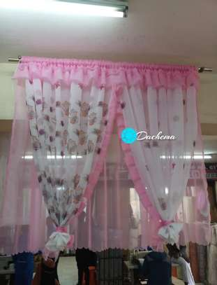 pink kitchen curtains image 1