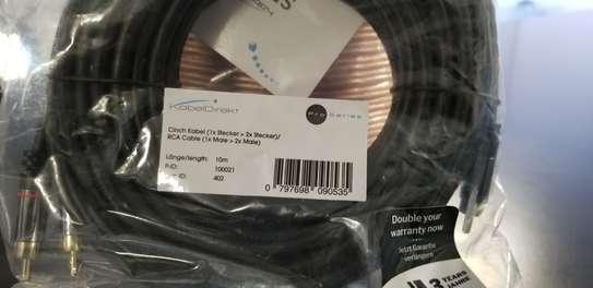 KabelDirekt10m Y-Adapter RCA Subwoofer Cable image 2