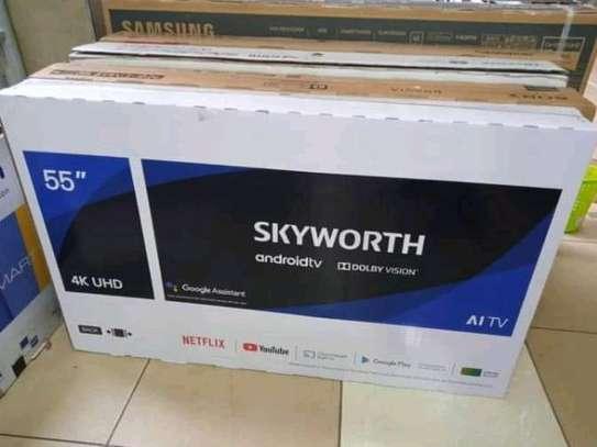 55 inch Skyworth Smart Android UHD 4K smart TV image 1