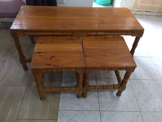 Table with 2 side tables - QUICK SALE image 1