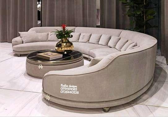 Twelve seater sofa/Curved sofas/modern livingroom sofa designs/modern sofas image 1