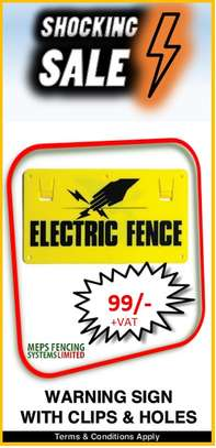 Warning Sign for Electric Fence image 1