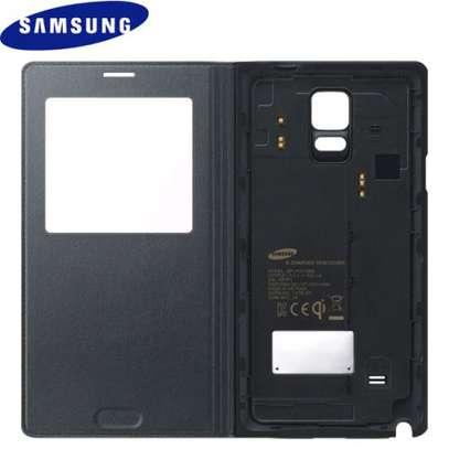 Smart S View Flip Cover Folio Case with Sensor - Samsung  Note 4 Case image 3