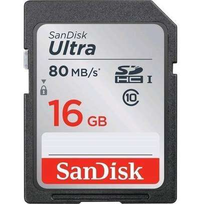 Sandisk 16GB Ultra (Class 10) SDHC UHS-I -Camera Memory Card Up to 80MB/S image 2