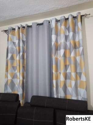 flowery printed  curtains image 1