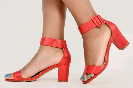 Classy official red open shoes image 1