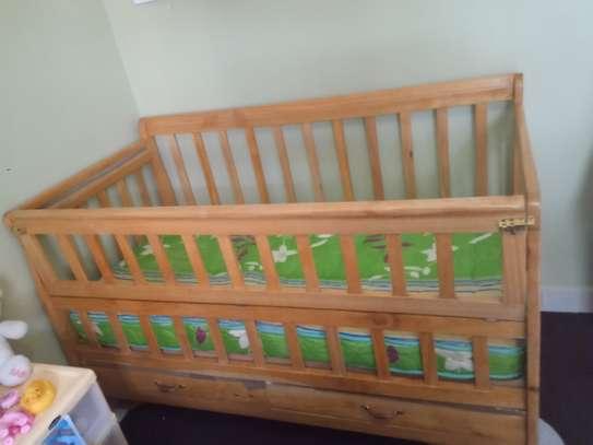 Baby Cot (2.5 *5) plus Mattress image 2