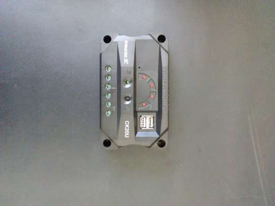 10 Amp PWM Charge Controller with Two  USB Port Outlets