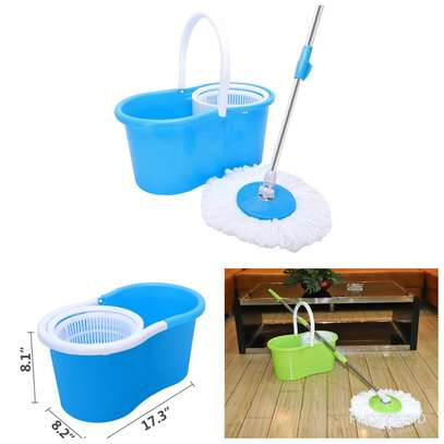 360 Degree Rotating Mop With Bucket Microfiber Head image 1