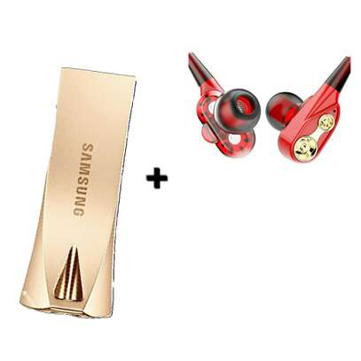 64GB - Flash Drive Samsung Free Bass Earphones Rose Gold. image 1