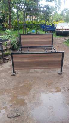 METAL FRAME BED WITH WOODEN FINISH FROM 3*6 TO 6*6 image 11