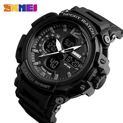 Skmei New Waterproof Digital Sports Watch 1343 - Black image 3