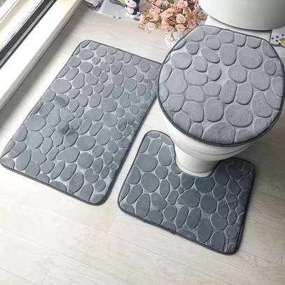 3 Pieces Bathroom Fluffy Mats image 2