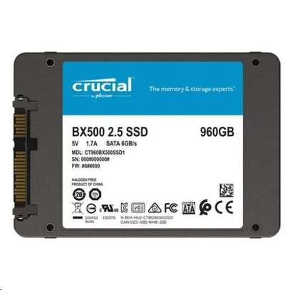 Crucial BX500 960GB SATA3  2.5 inch Internal SSD image 1