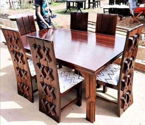Six Seater Mahogany-Wood dining set image 1