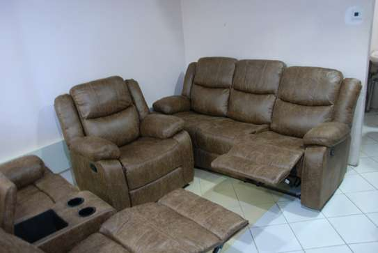 Imported 6 Seater Microfiber recliner sofa sets