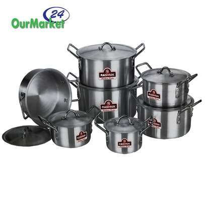 Sufuria 7 pcs set Rashnik color silver ideal for kitchen image 1