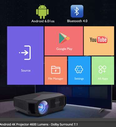 Android 4K Projector 4600 Lumens image 3