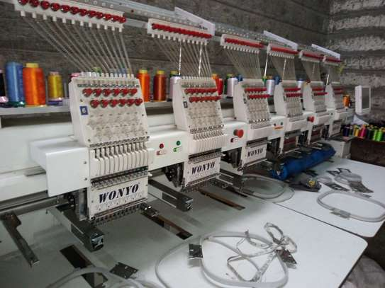 Six head embroidery machine. 12 needle.. image 3