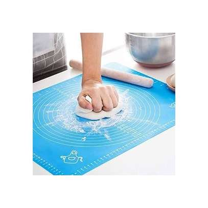Silicone Baking Cake Dough Fondant Rolling Kneading Mat Scale Table Grill Pad image 1