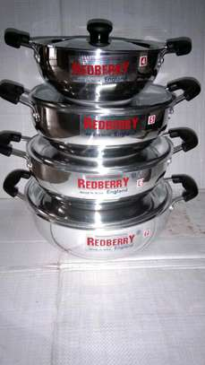 Redberry 8pc stainless Steel sufuria. image 1