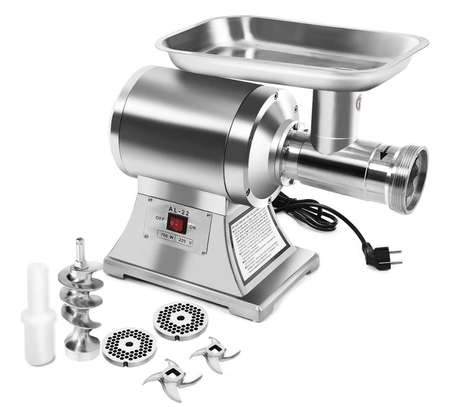 Commercial Electric Meat Grinder 750W Stainless Steel 150/h Heavy Duty image 1