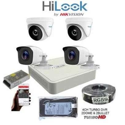 4 CCTV Camera Full Kit 720Pixel ( Ultra HD Images & Night Vision) image 1