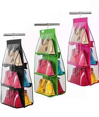 6 pocket handbag organiser image 1