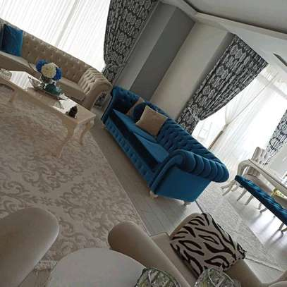 Blue three seater sofas for sale in Nairobi Kenya/Cream three seater sofa for sale in Nairobi Kenya/single seater sofas for sale in Nairobi Kenya image 1