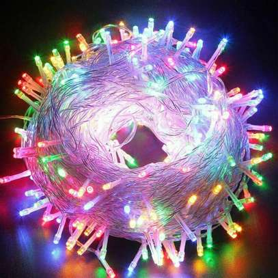 Fairy String Lights 100 LED Clear Cable for Christmas Tree image 1