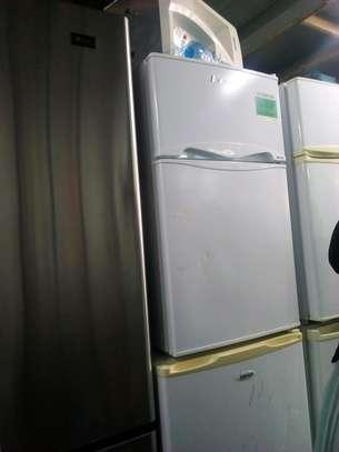 Double door mini fridge