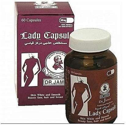Dr James Lady Capsule Supplements  for Beautiful light  Skin,Hair growth,Glowing  Skin image 1