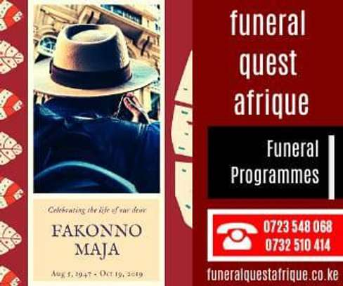 Customized A4 Funeral Programs image 2