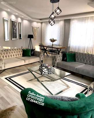 Modern three seater sofas for sale in Nairobi Kenya/3-2-1-1 seven seater sofa designs kenya/green chesterfield sofas/green one seater sofas image 1