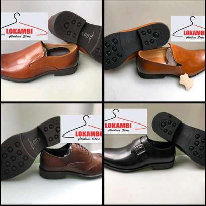 Men leather official shoes