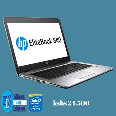 HP Elitebook 840 G2 Intel Core i3 2.4Ghz 4Gb Ram 500GB Hard Drive 14 Inches Windows 10 image 1
