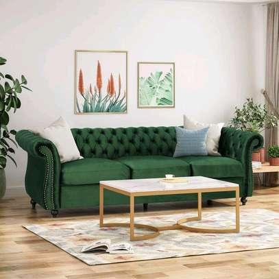 Green three seater sofa for sale in Nairobi Kenya image 1