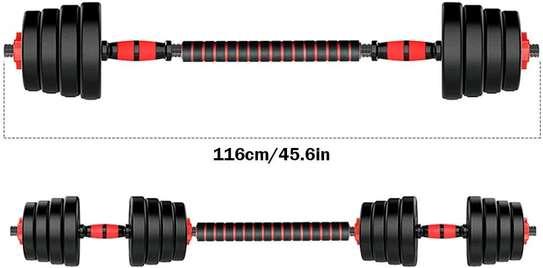 30kg Adjustable Dumbbells/Barbell image 4