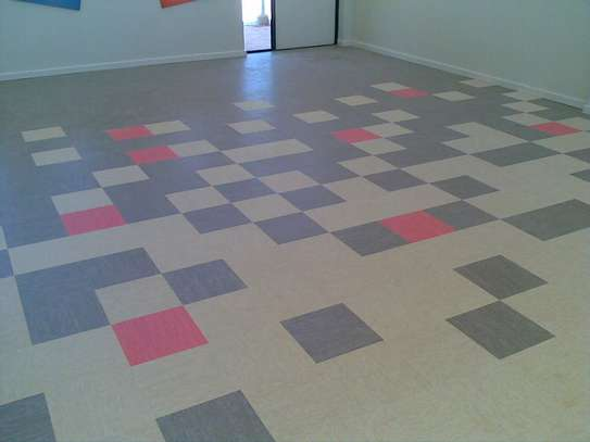 PVC floor tiles (300mm by 300mm)