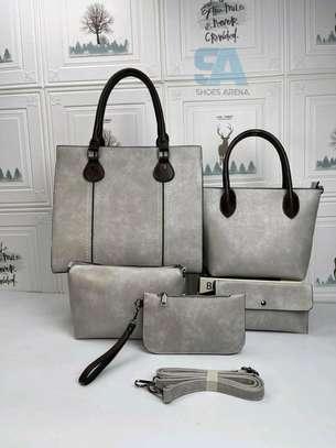 Fancy 5 in 1 Leather Handbags image 10