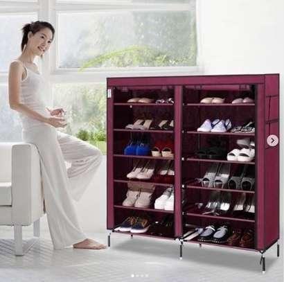 36 pairs double column shoe rack image 1