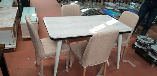 4 Seater Marble Dining Tables image 1