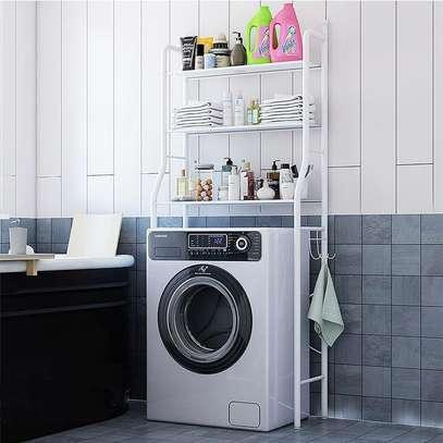 Metallic washing machine stand image 1